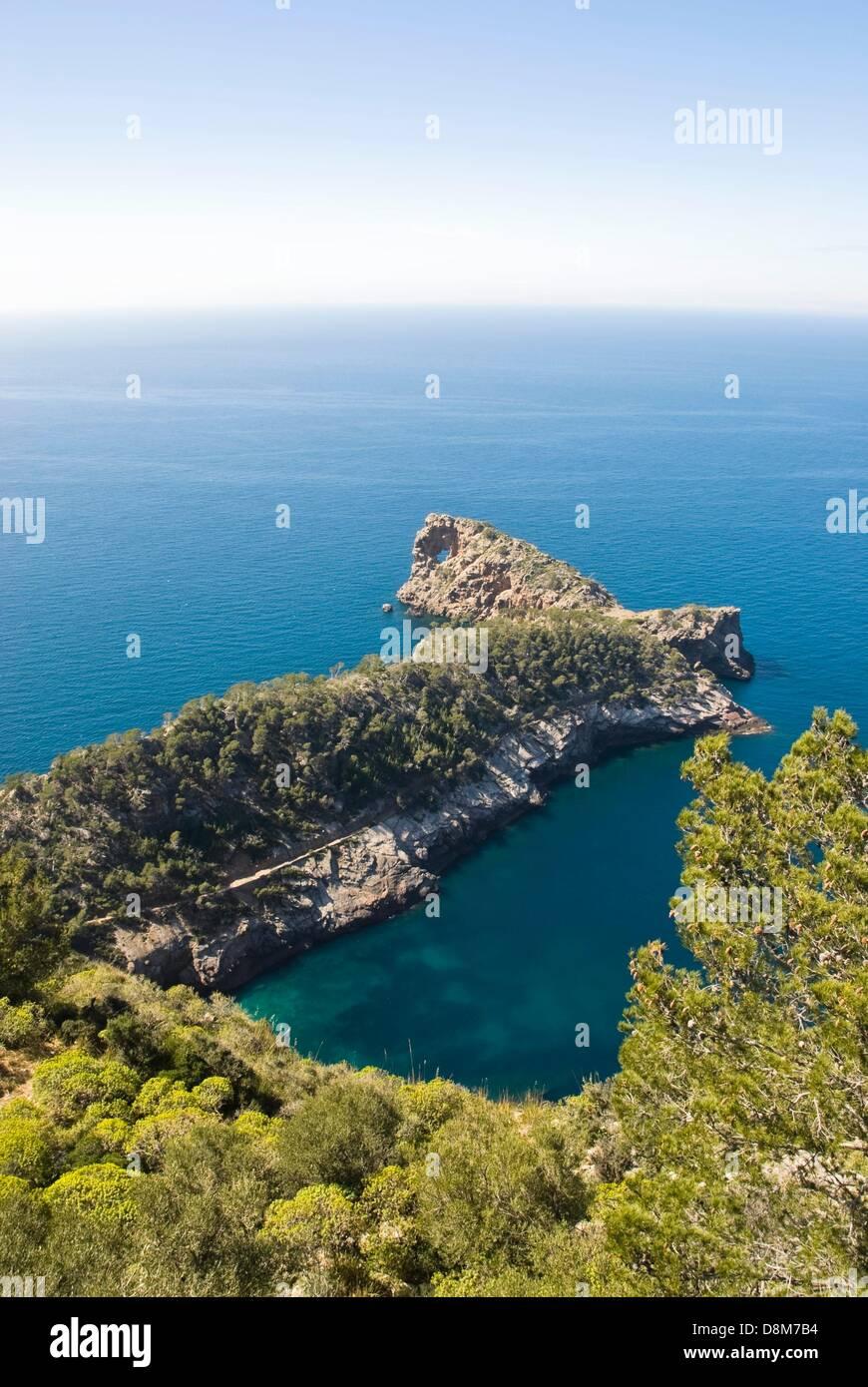 Coast landscape near Valdemossa, Mallorca - Stock Image