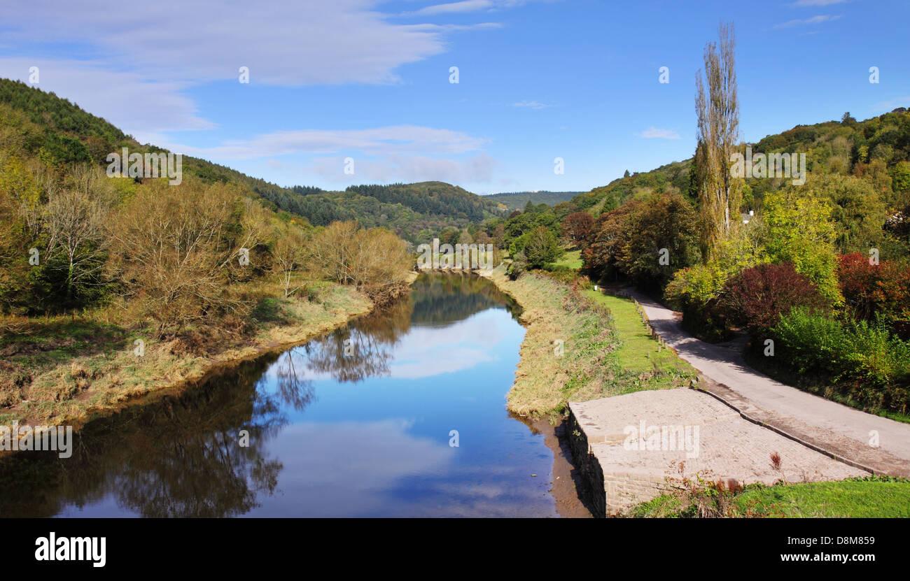 The River Wye near Tintern Abbey - Stock Image