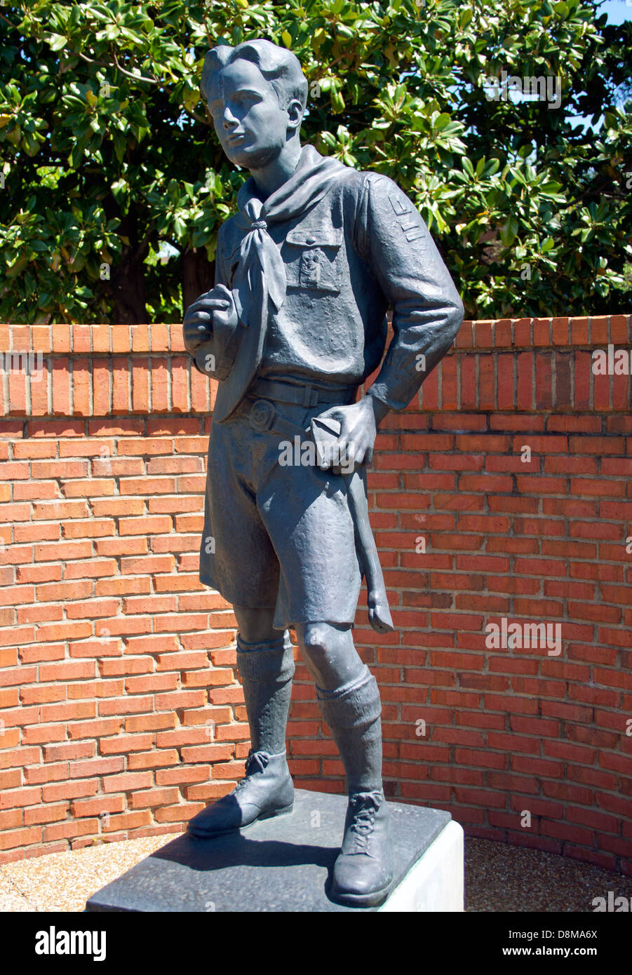 Statue at the Boy Scout Headquarters in Nashville Tennessee - Stock Image