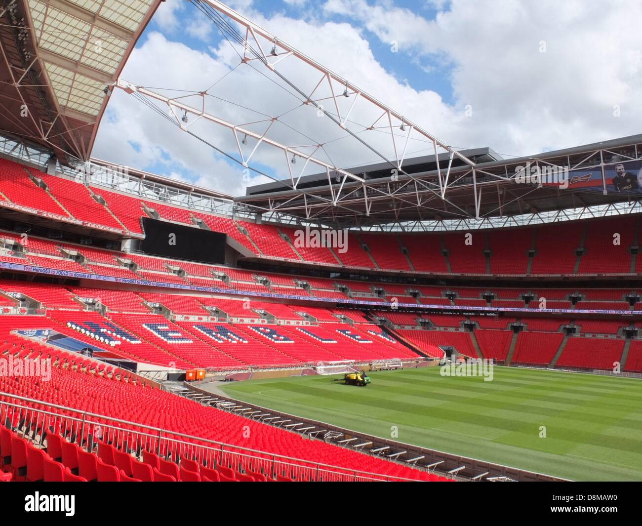 The Wembley Stadium is seen in London, Great Britain, on 9th May 2013. - Stock Image