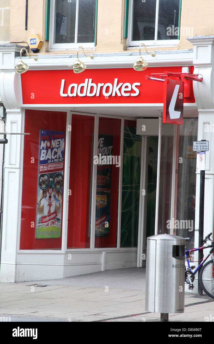 Ladbrokes High Street bookmakers. - Stock Image