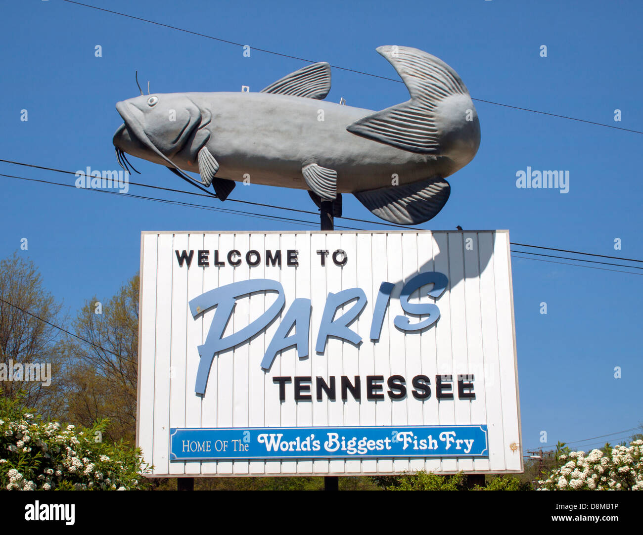 Tennessee welcome sign stock photos tennessee welcome sign stock welcome to paris tennessee sign home of the worlds biggest fish fry stock image publicscrutiny Images