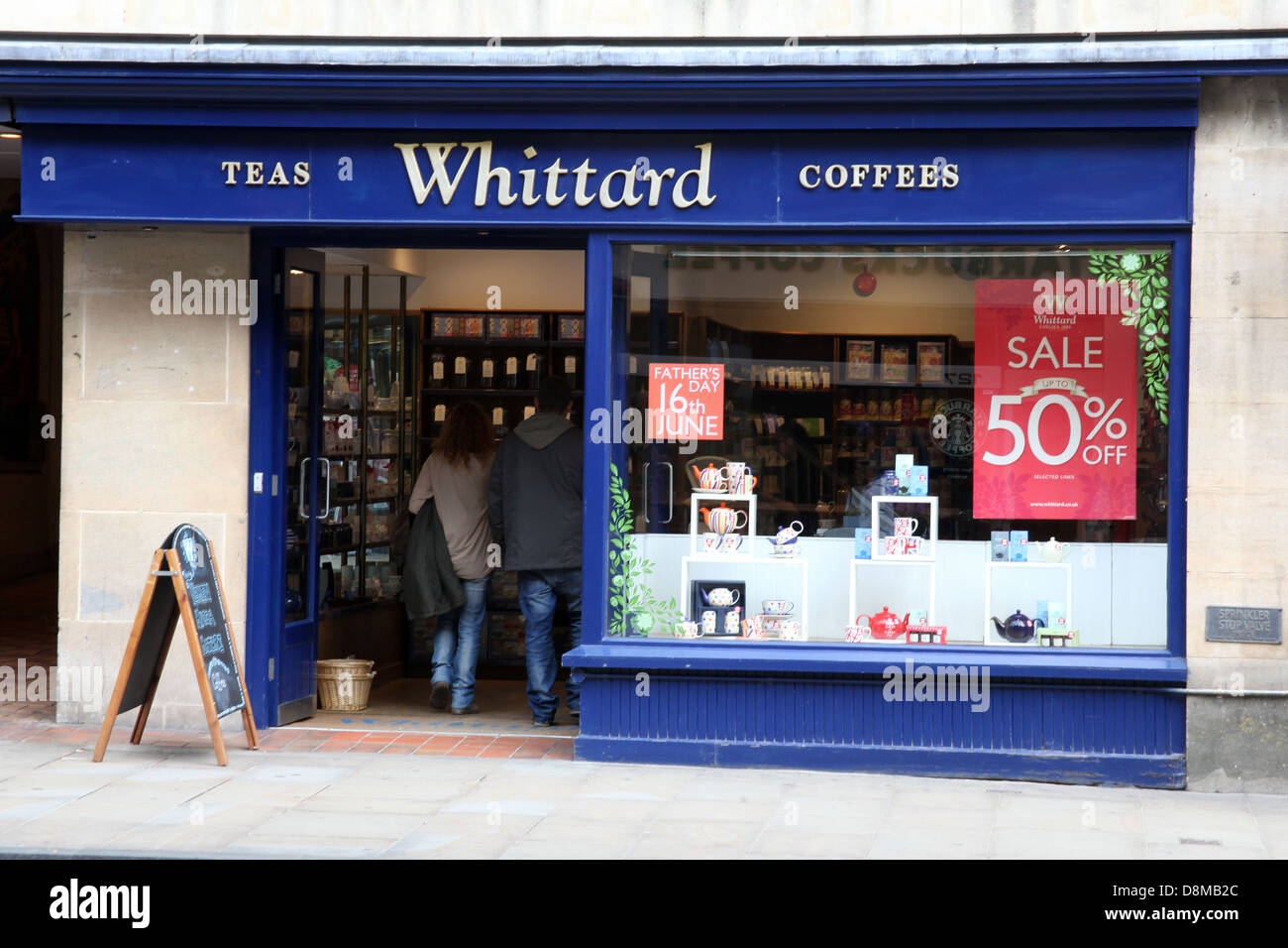 Whittard High Street Teas and Coffees shop. - Stock Image