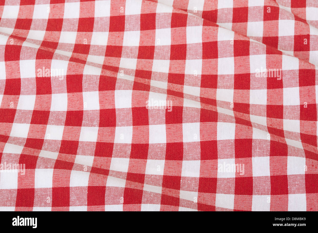 Exceptional Red And White Wavy Gingham Tablecloth Texture Background