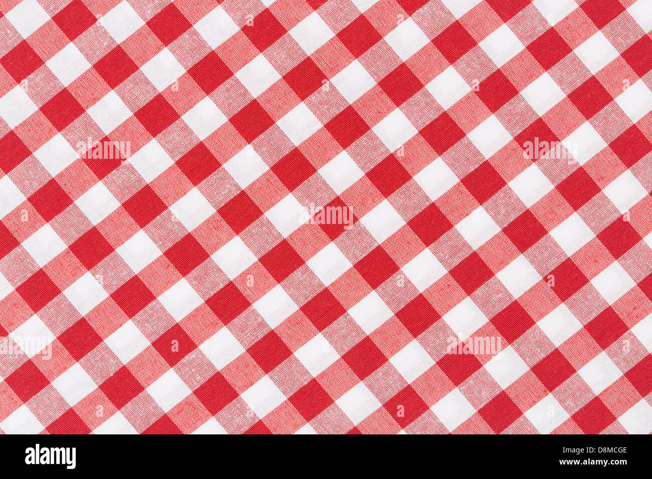 High Quality Red And White Gingham Tablecloth Diagonal Texture Background