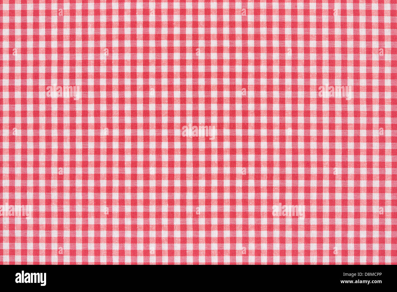 Red and white tablecloth texture - Stock Image