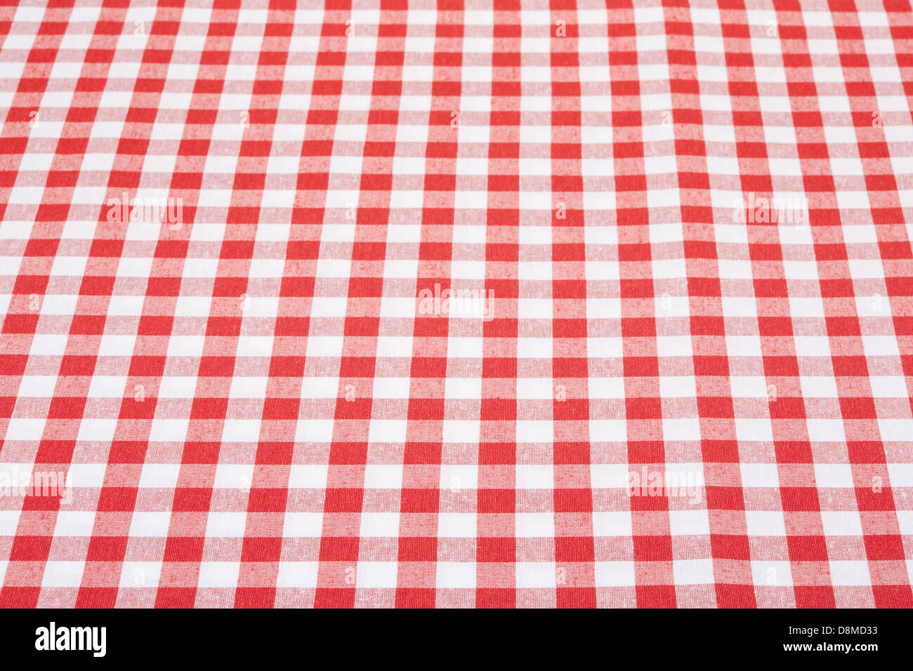 Superior Red And White Gingham Tablecloth Texture Background In Perspective