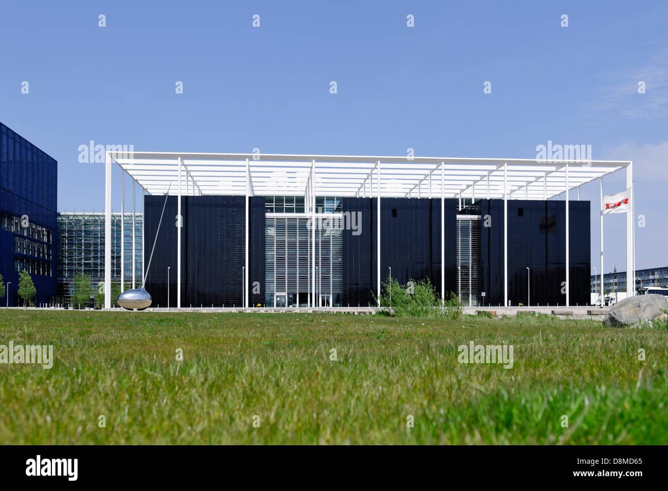 Modern architecture, Ørestad, island of Amager, Copenhagen, Denmark - Stock Image