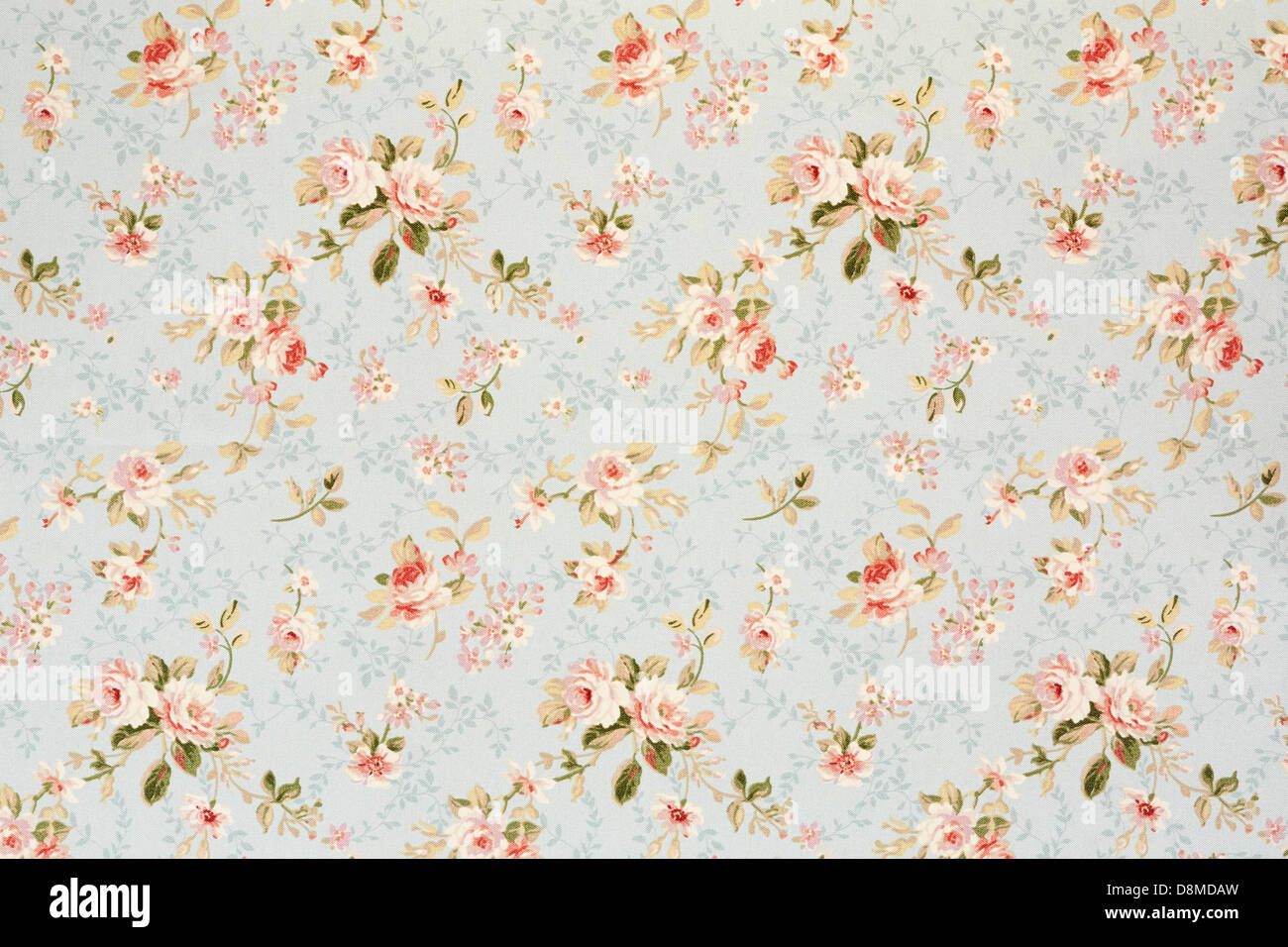 Rose floral tapestry, romantic texture background - Stock Image