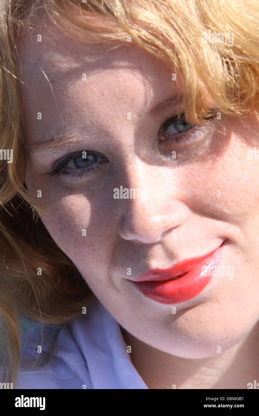 young redheaded woman - Stock Image