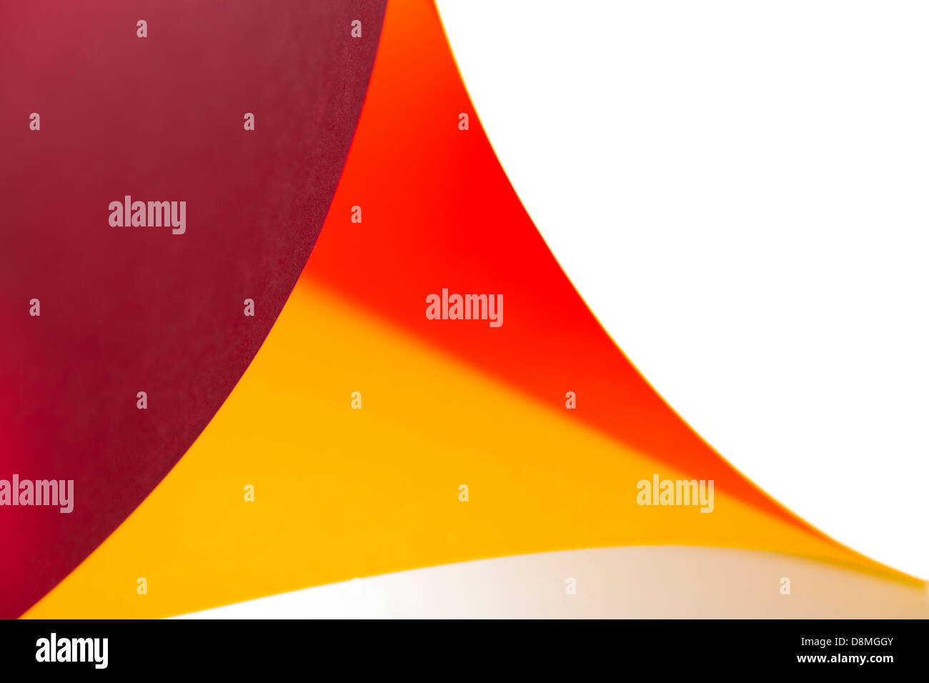 abstract colors red, orange, white for background triangle form - Stock Image