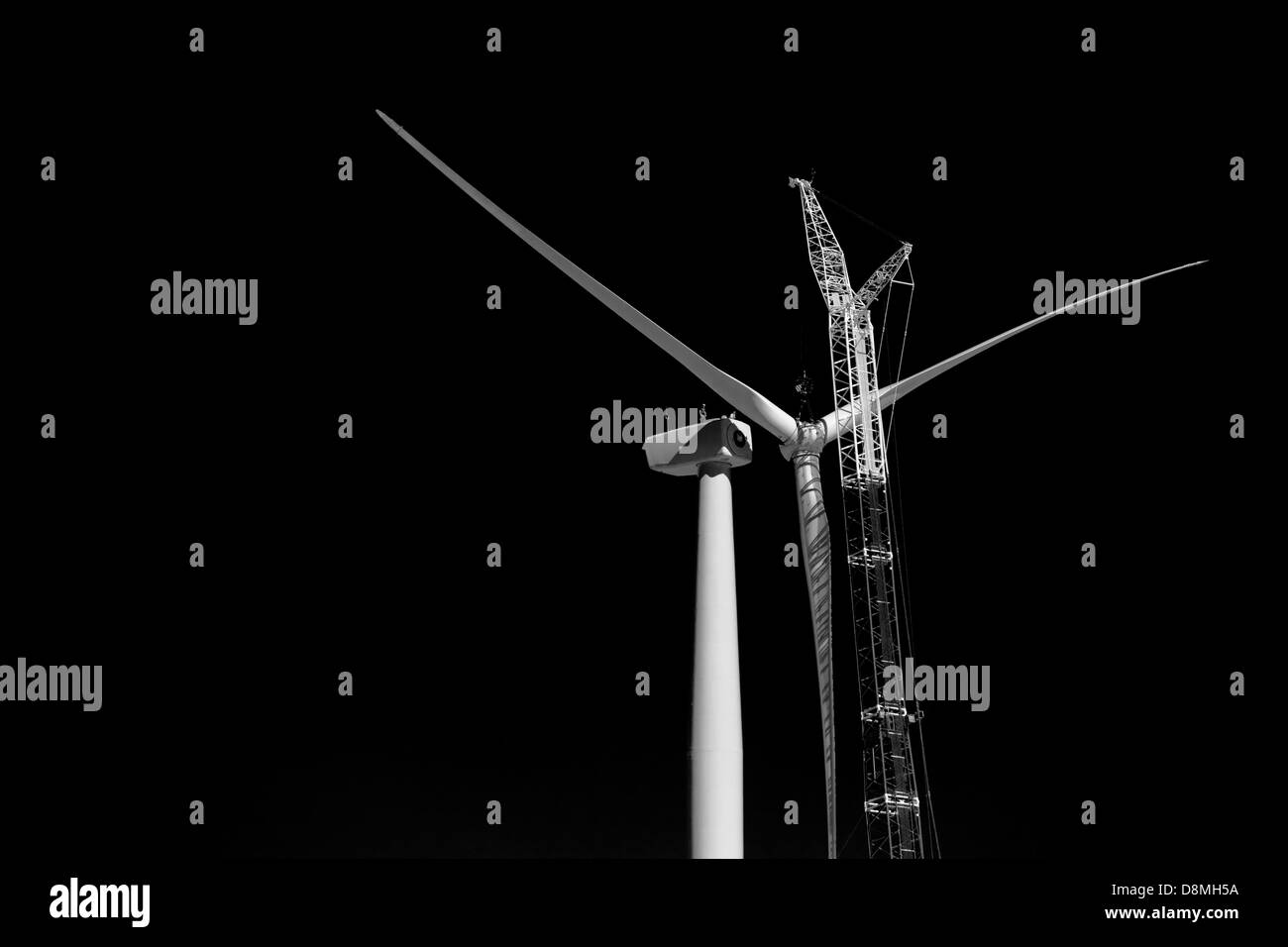 Wind Farm Construction - Stock Image