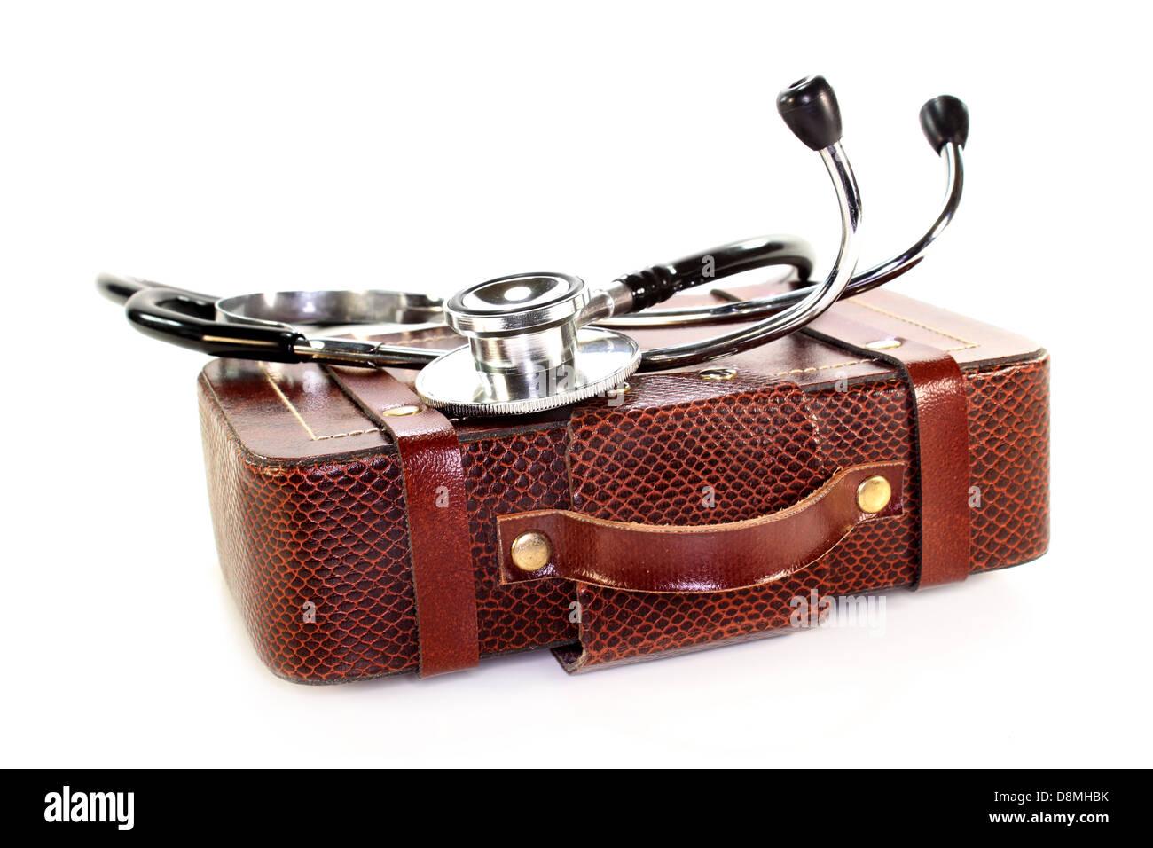 Travel health insurance - Stock Image