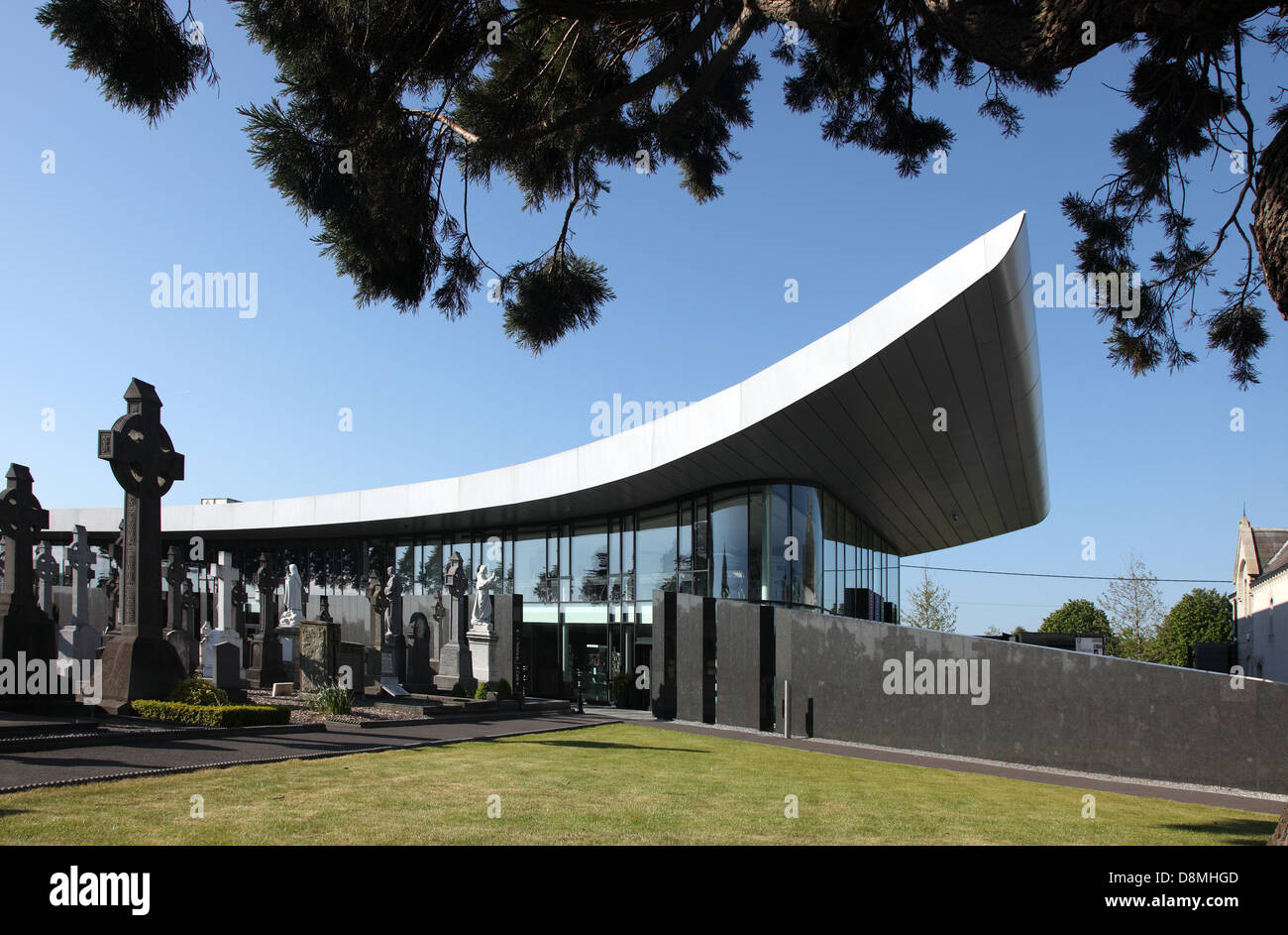 Glasnevin Museum designed by A & D Wejchert built in 2010 to house an exhbition charting the Victorian garden cemetery Stock Photo