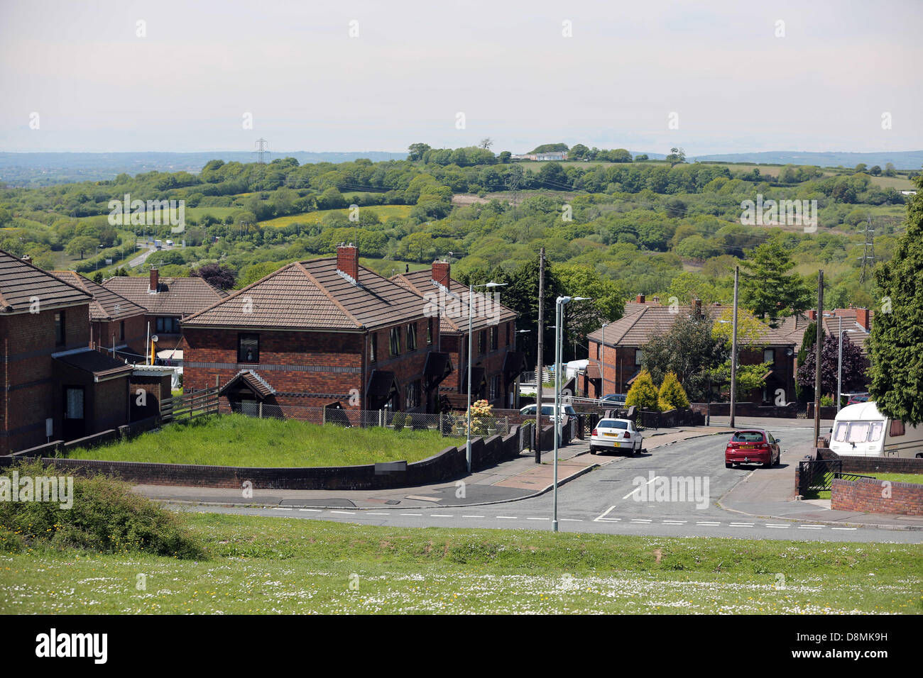 Swansea, south Wales, UK. Wed 29 May 2013  Pictured: Houses in the area of Swansea that suffered a power cut when Stock Photo