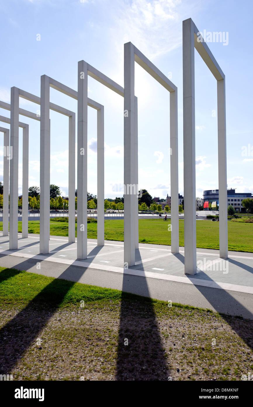 Alley of the gates of heaven, Bertha Klingberg Square, Schwerin, Germany Stock Photo
