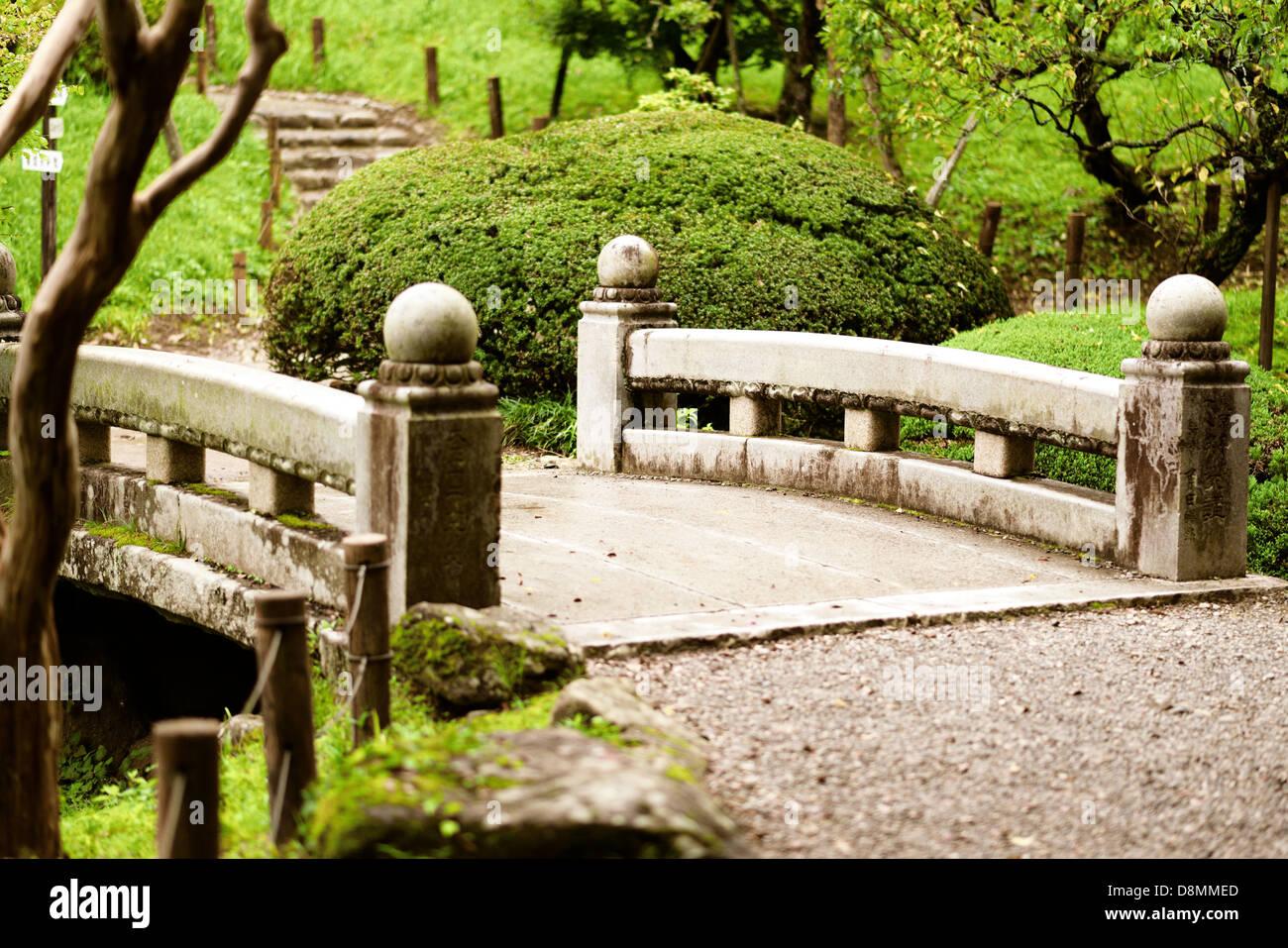 Garden in Japan - Stock Image