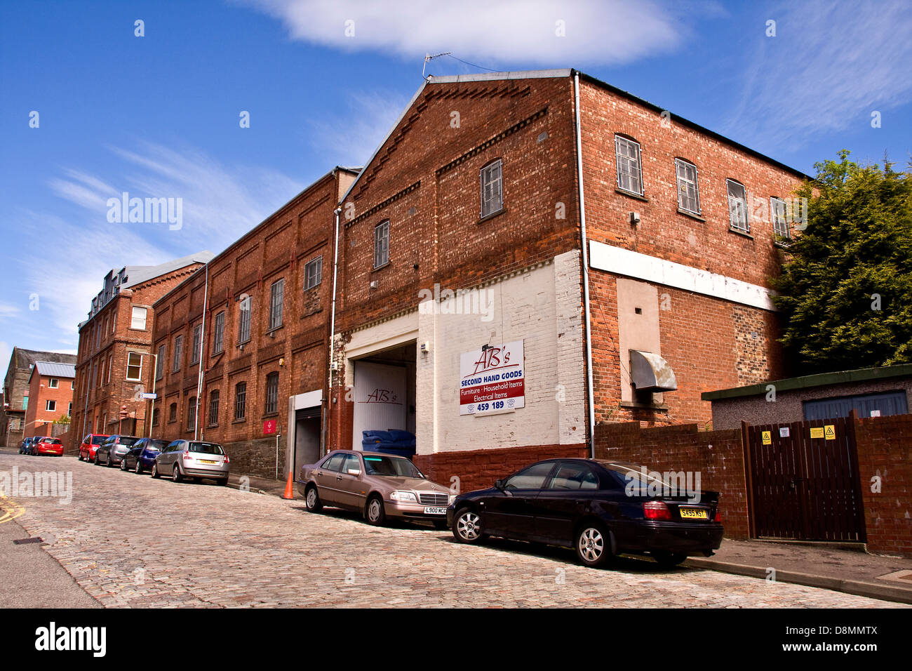 1800`s Wellfield Works on Kemback Street is one of many buildings with Elevations to Dundee and is a Listed Building - Stock Image
