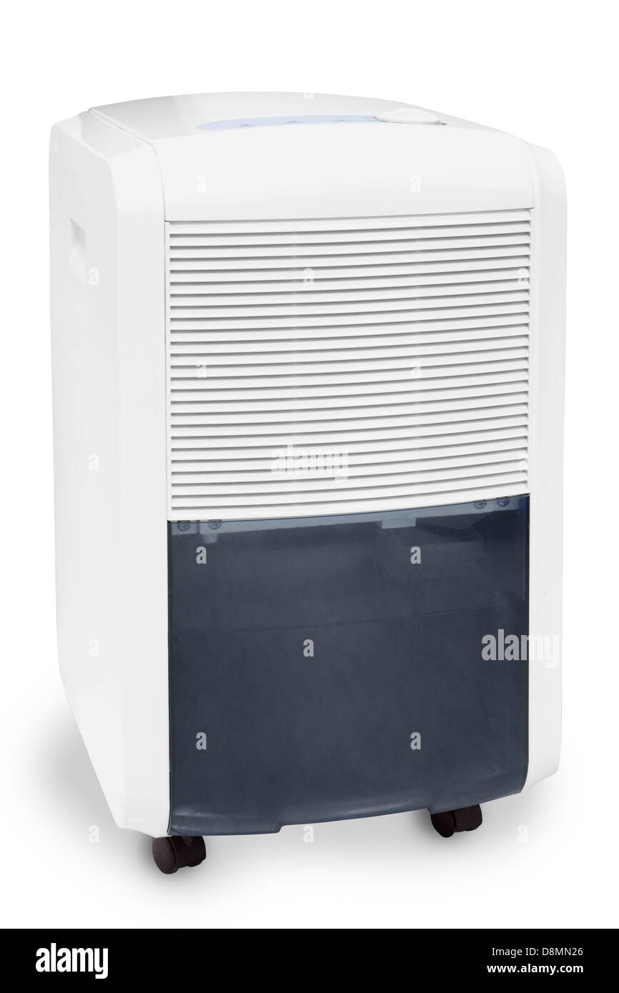 Air conditioner and moisture catcher isolated Stock Photo