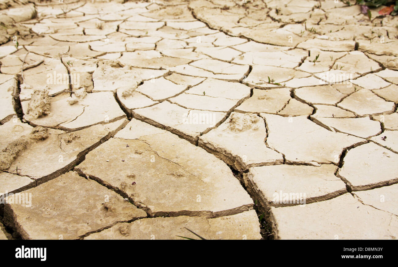 Cracked mud texture for overlay effect - Stock Image