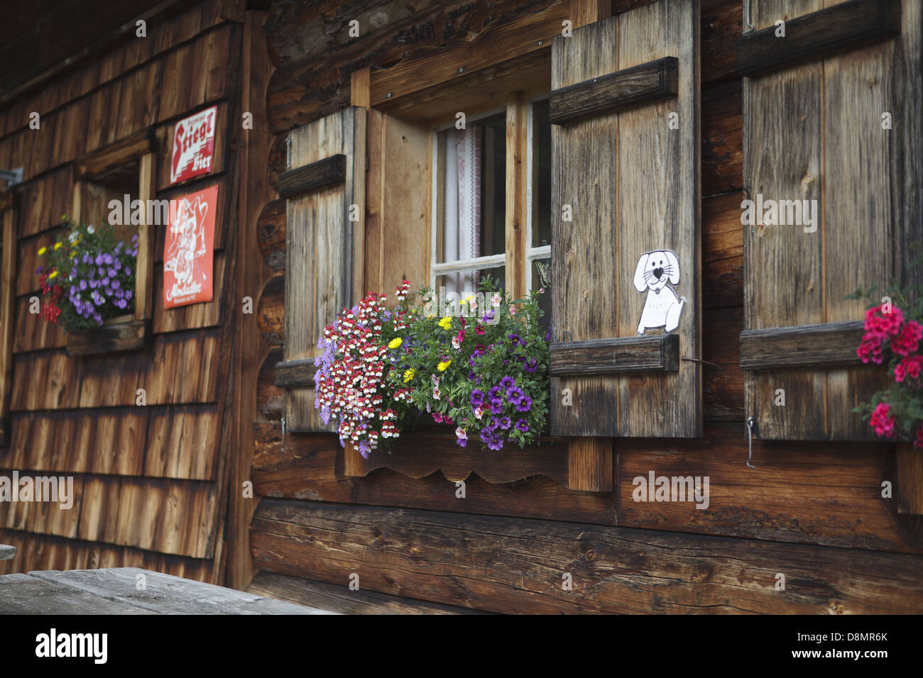 Alpine Cabin Stock Photo