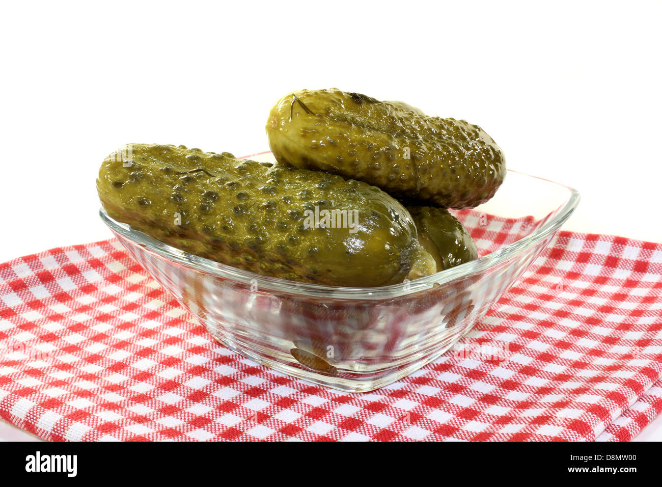 pickled cucumber - Stock Image