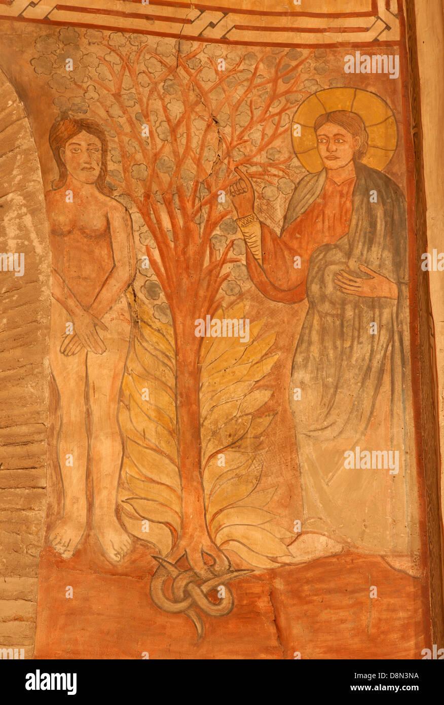 TOLEDO - MARCH 8: Creation of Eva fresco in church San Roman. - Stock Image
