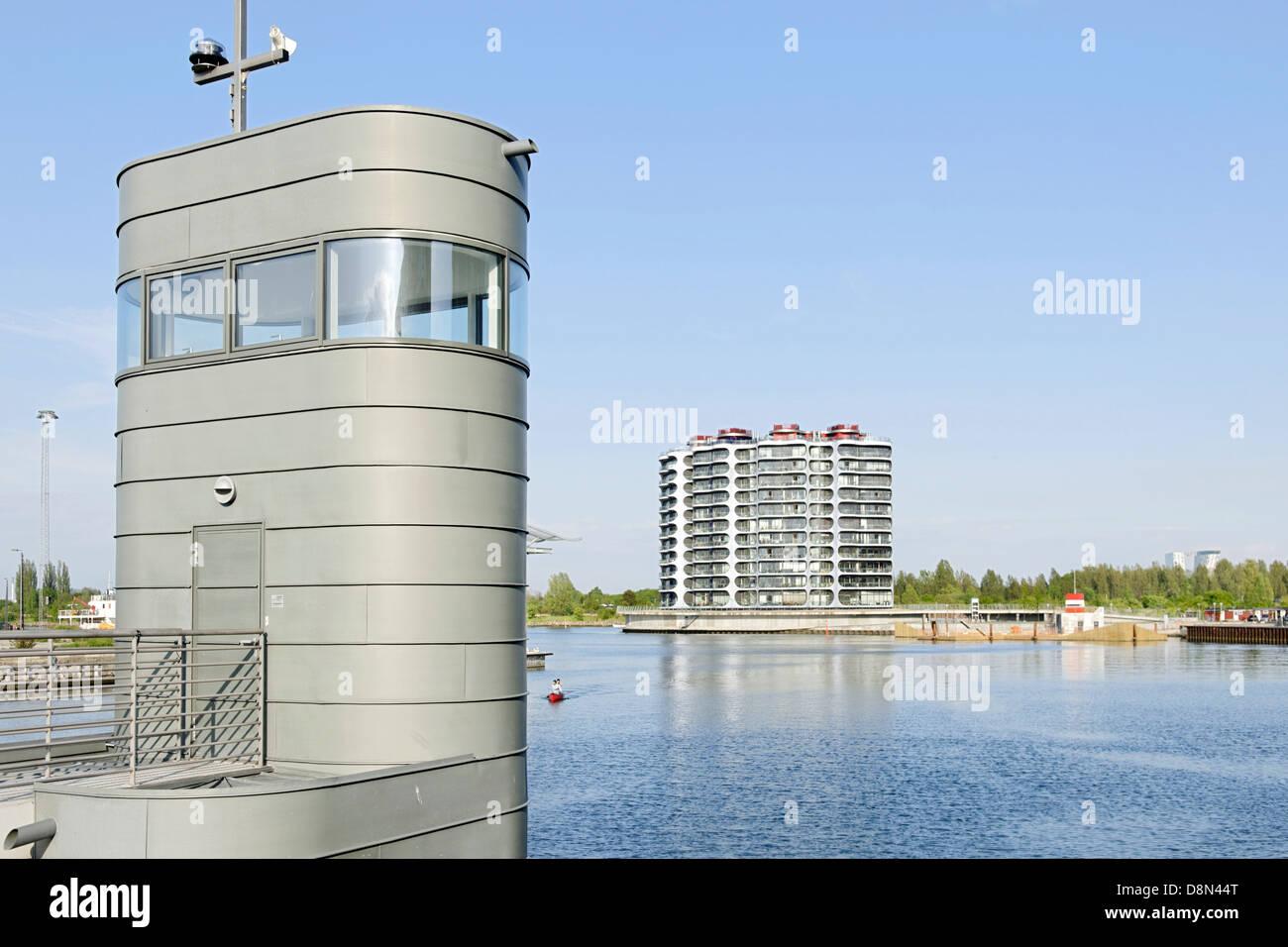 Modern architecture, Sluseholmen, Copenhagen, Denmark, Europe - Stock Image