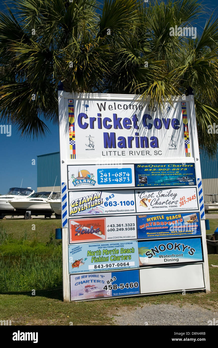 Cricket Cove Marina Welcome Sign Little River South Carolina