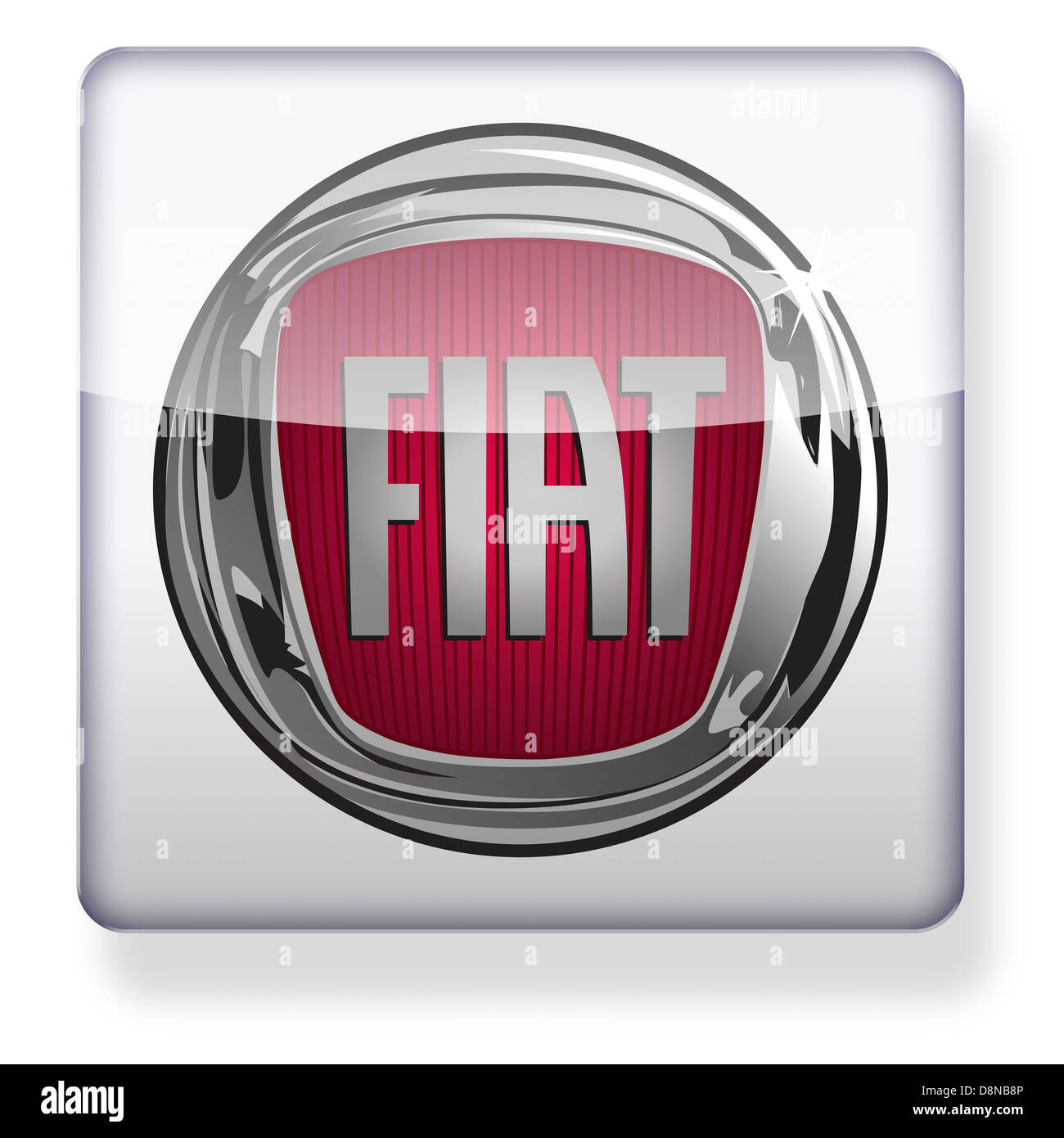 Fiat logo as an app icon. Clipping path included. - Stock Image