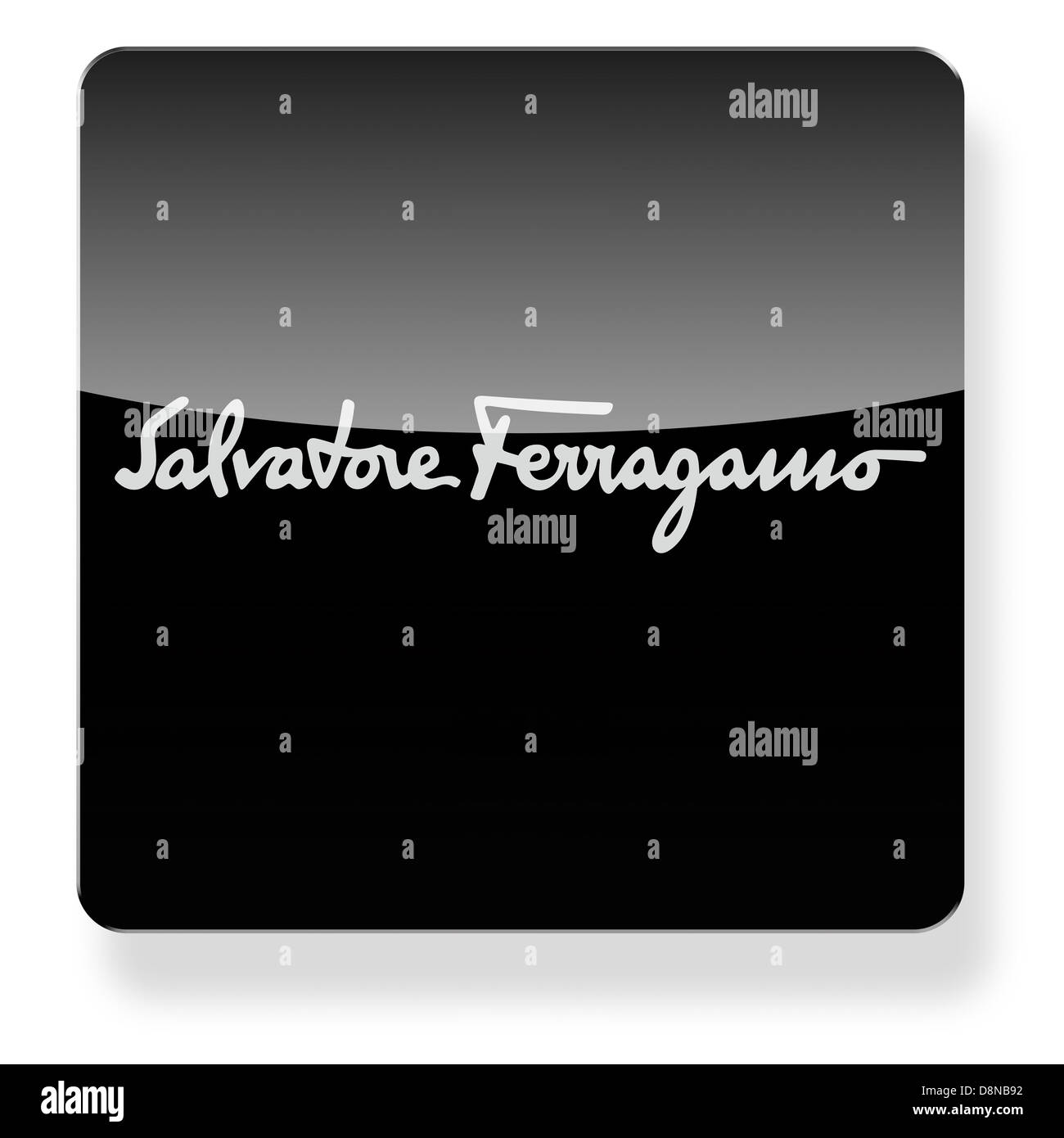 Salvatore Ferragamo logo as an app icon. Clipping path included. - Stock Image