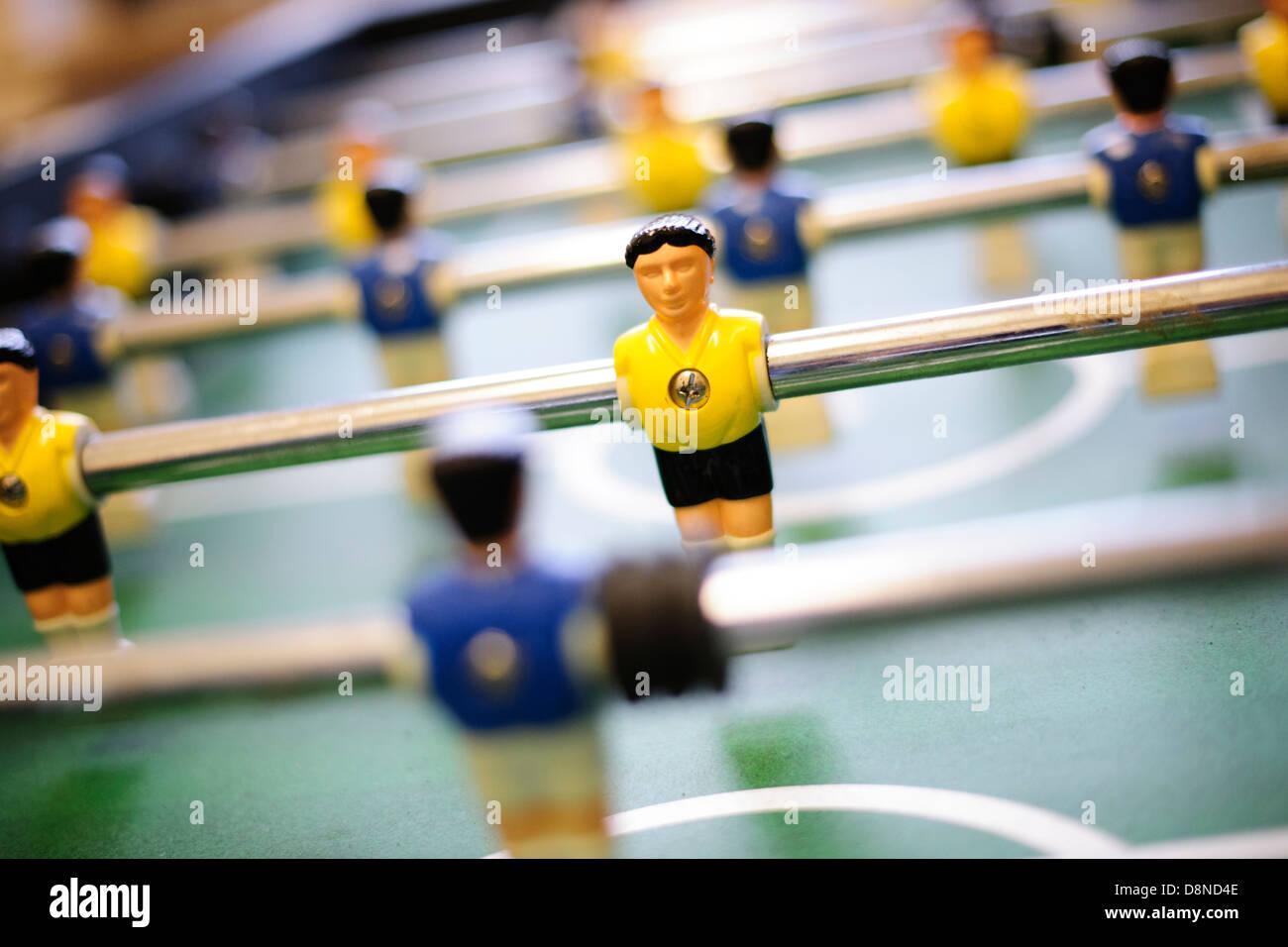 Table football, table football game, leisure, pleasure - Stock Image