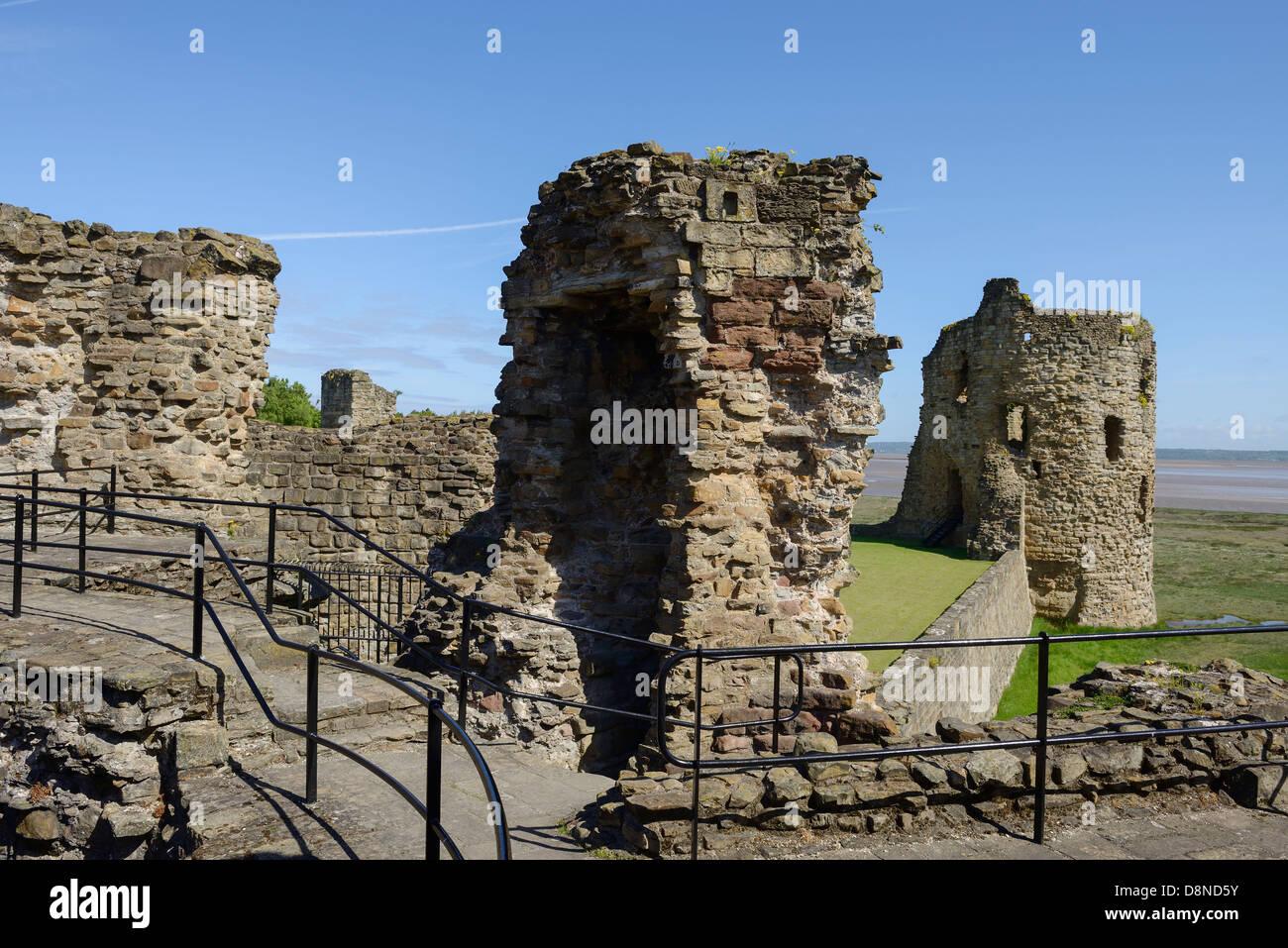 Flint Castle North East Wales UK - Stock Image