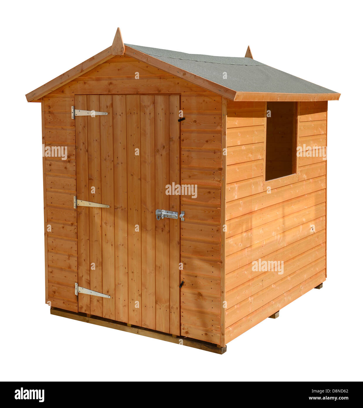 Wooden garden shed - Stock Image