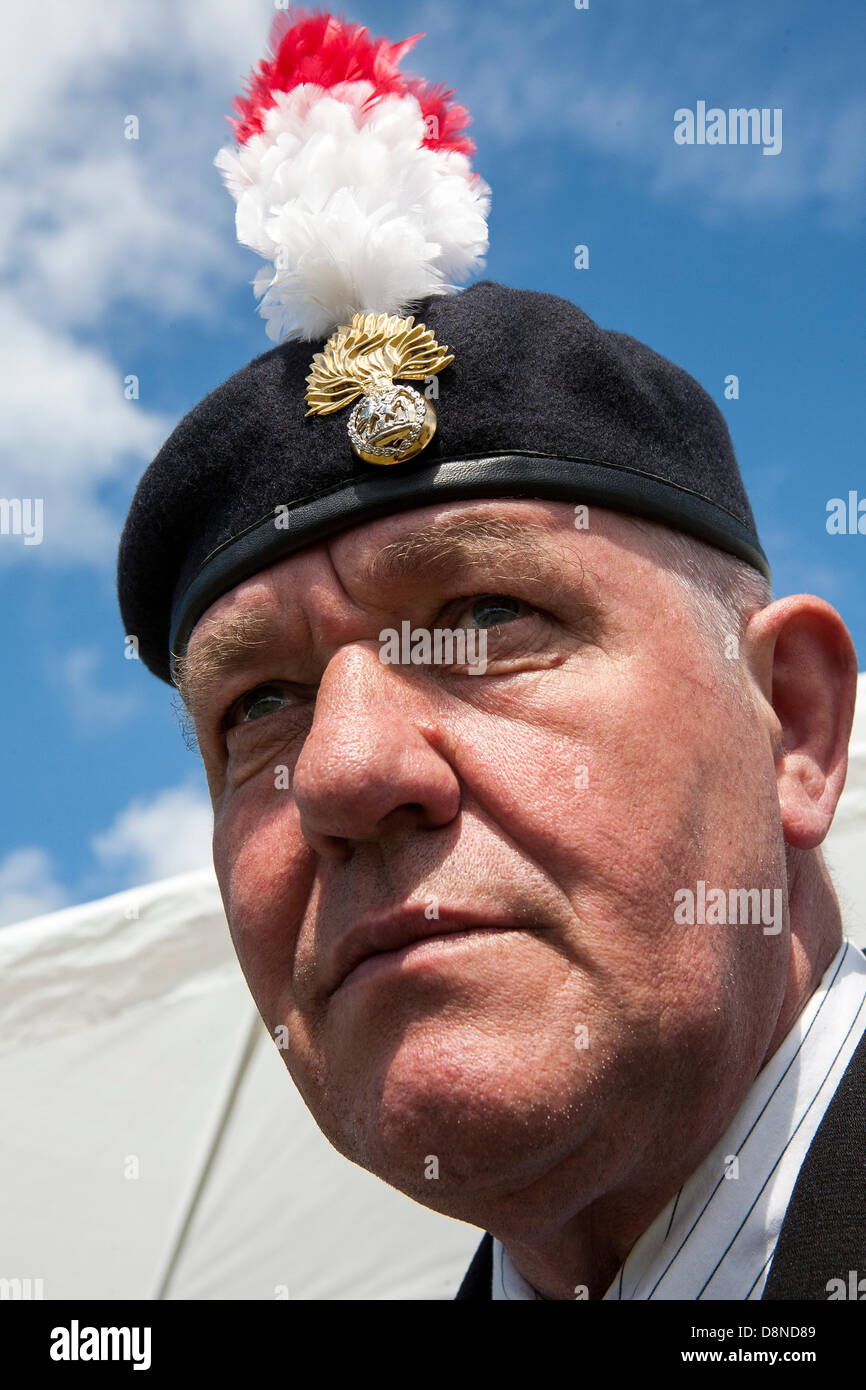 Southport, Merseyside, UK. 1st June 2013. Southport Country Fair .  David Moore, age 57, of the Royal Fusiliers - Stock Image