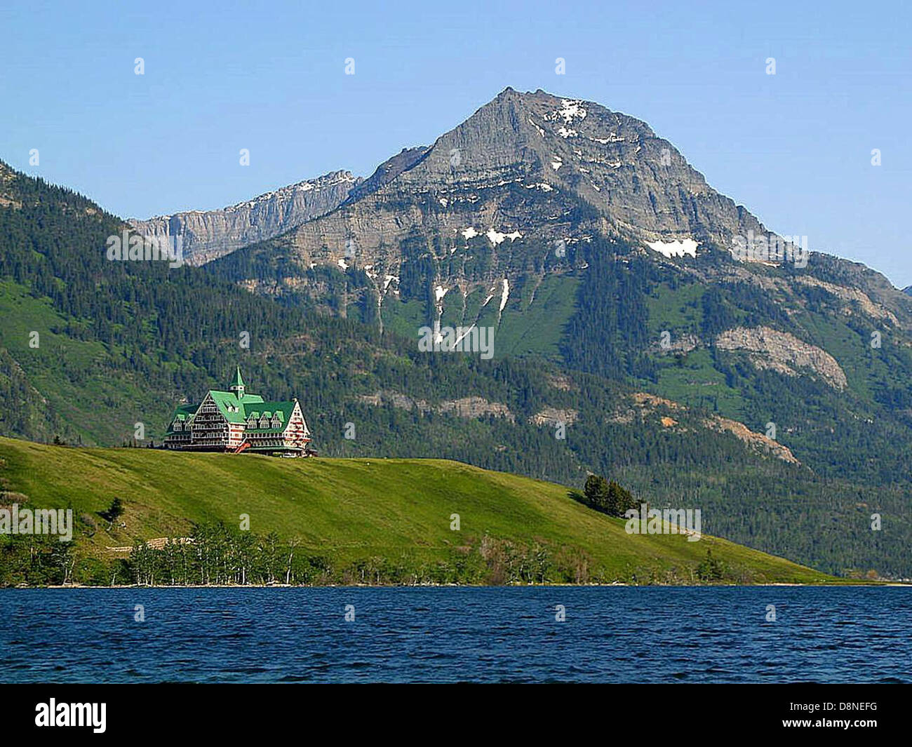 Waterton lakes national park prince of Wales hotel. - Stock Image