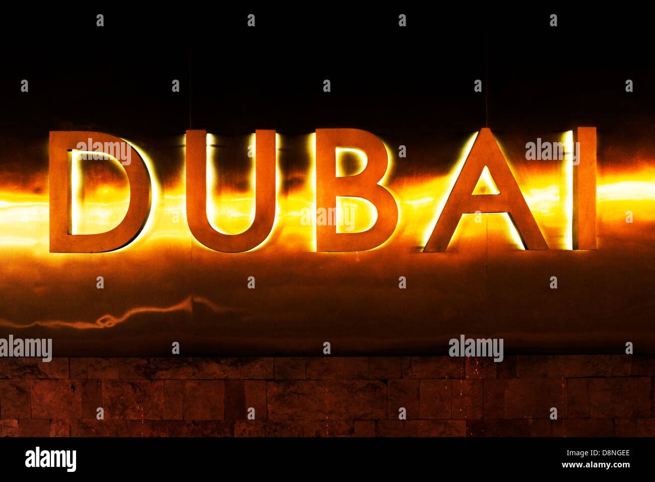 Capital letters, Dubai, UAE - Stock Image