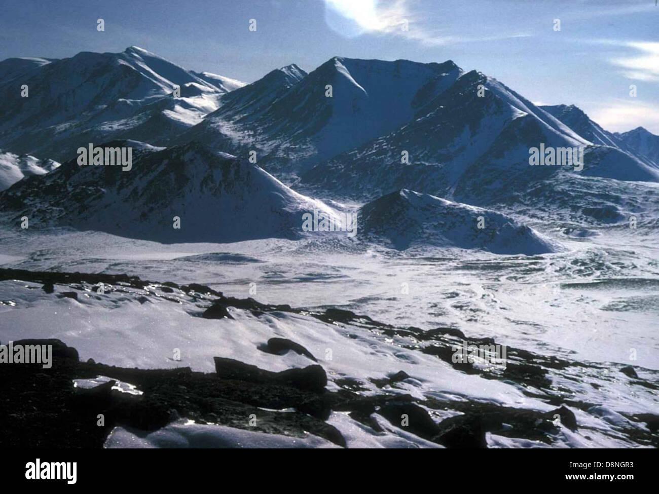 Winter scenics mountain at Peters lake. - Stock Image