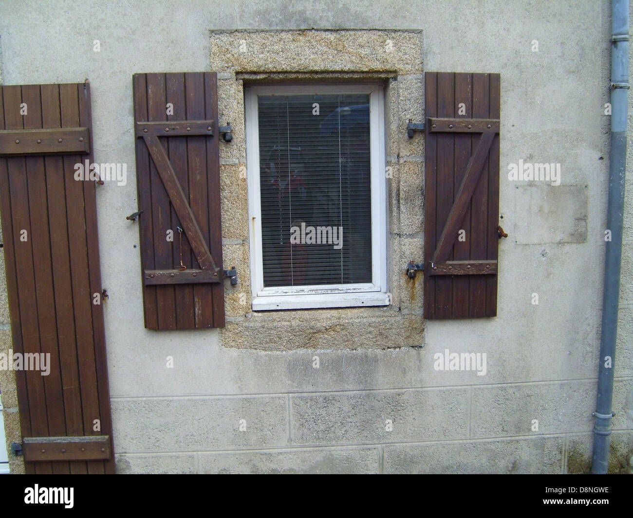 Wooden old fashioned window. - Stock Image