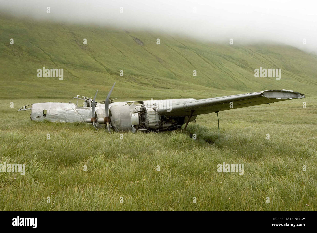 World war 2 plane wreckage. - Stock Image