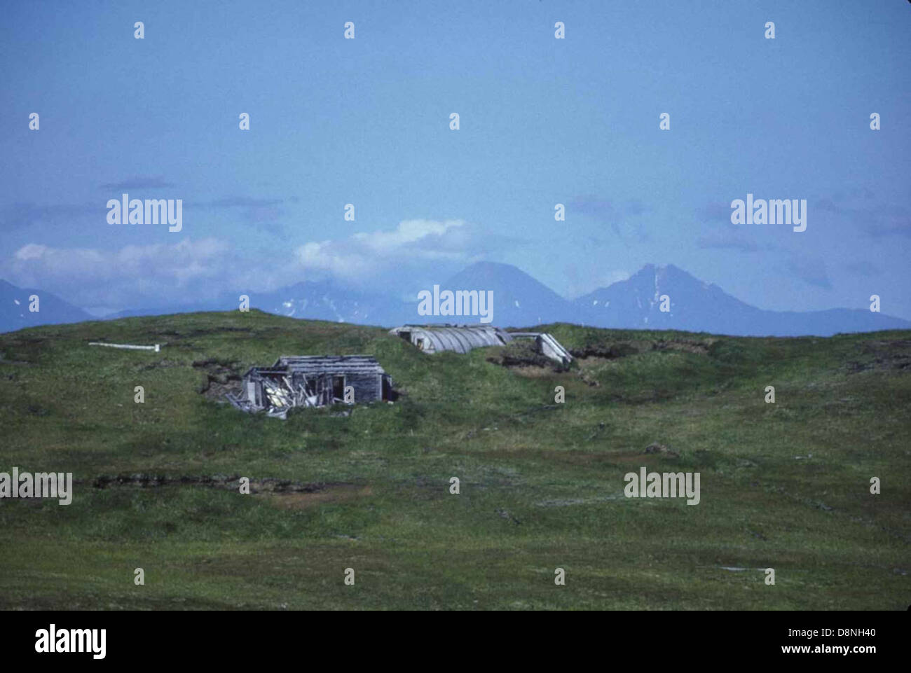 World war two quonset hut. - Stock Image