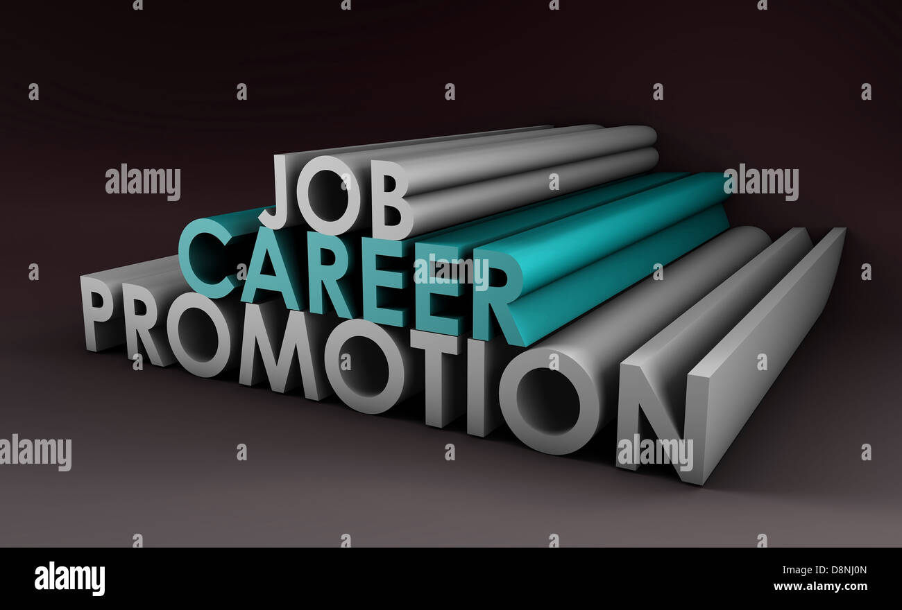 Job Career Promotion and a Pay Raise - Stock Image