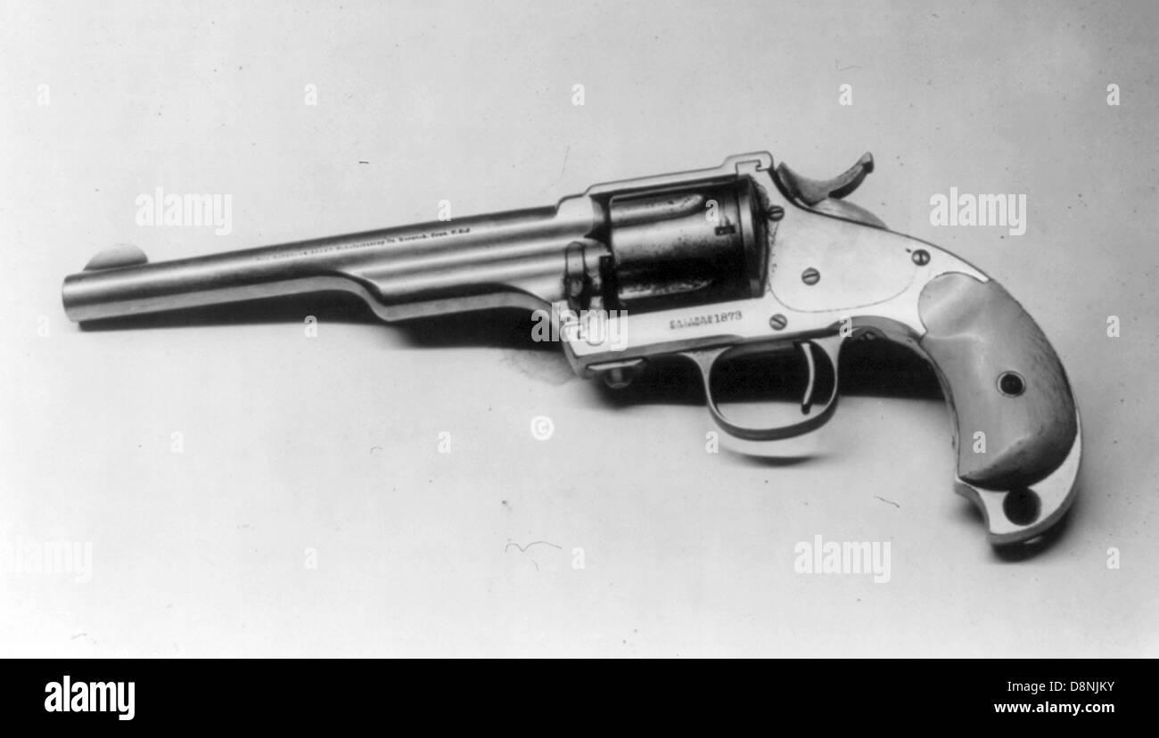 Jesse James, 44 Hopkins & Allen pistol, 1873 model - Stock Image