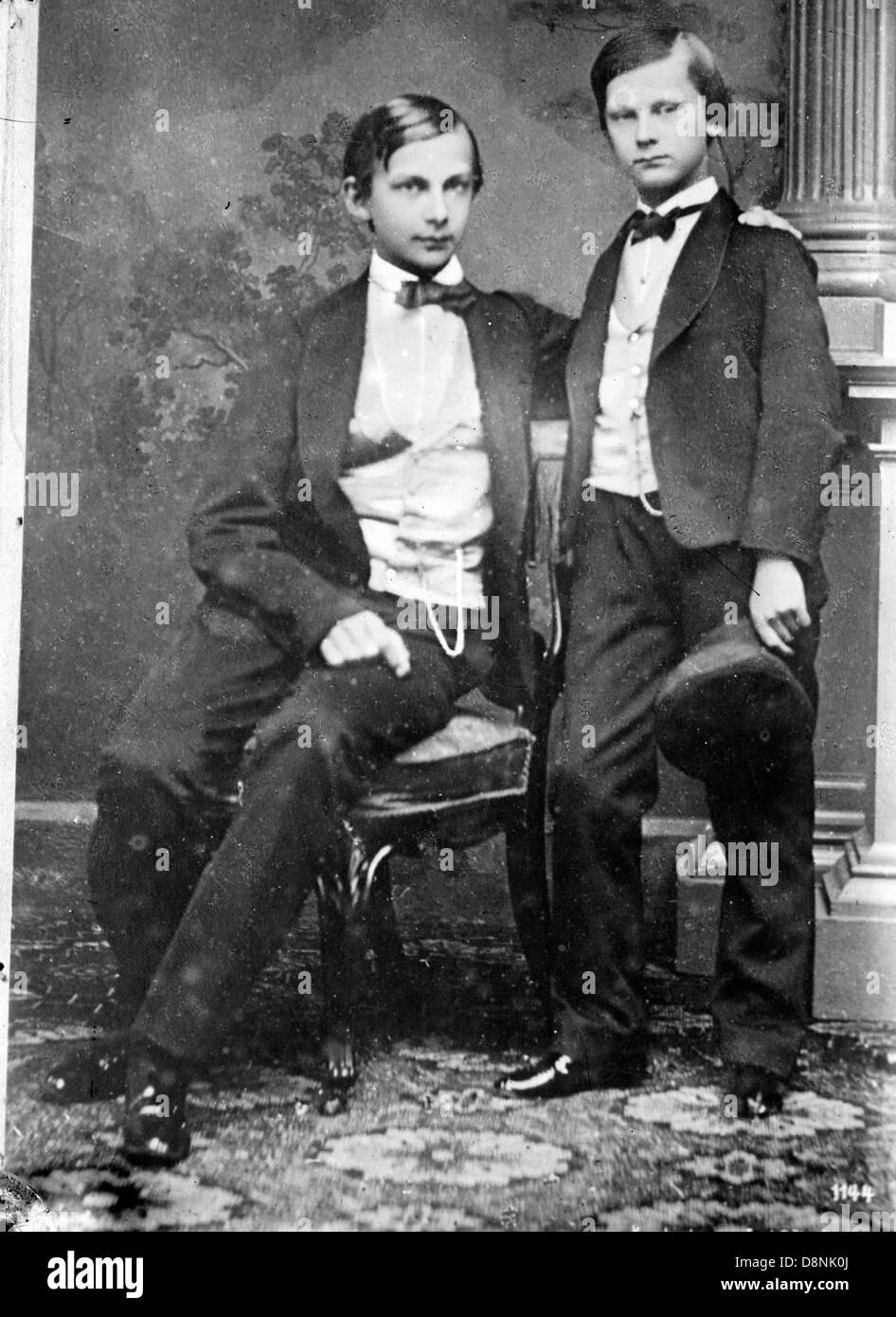 Princes Ludwig and Otto of Bavaria - Stock Image