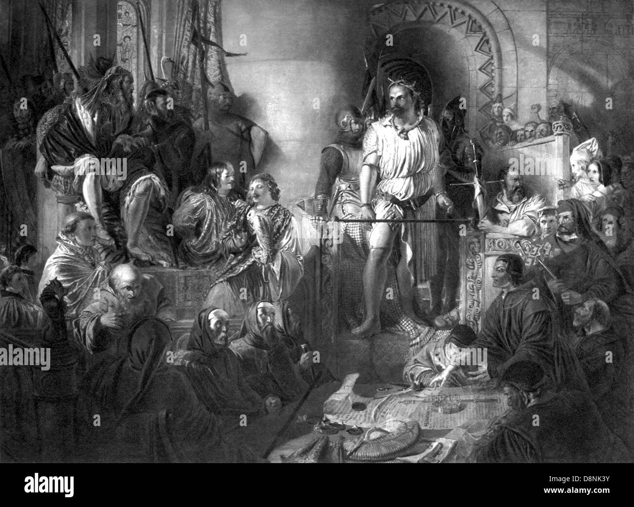 Trial of William Wallace at Westminster - Stock Image
