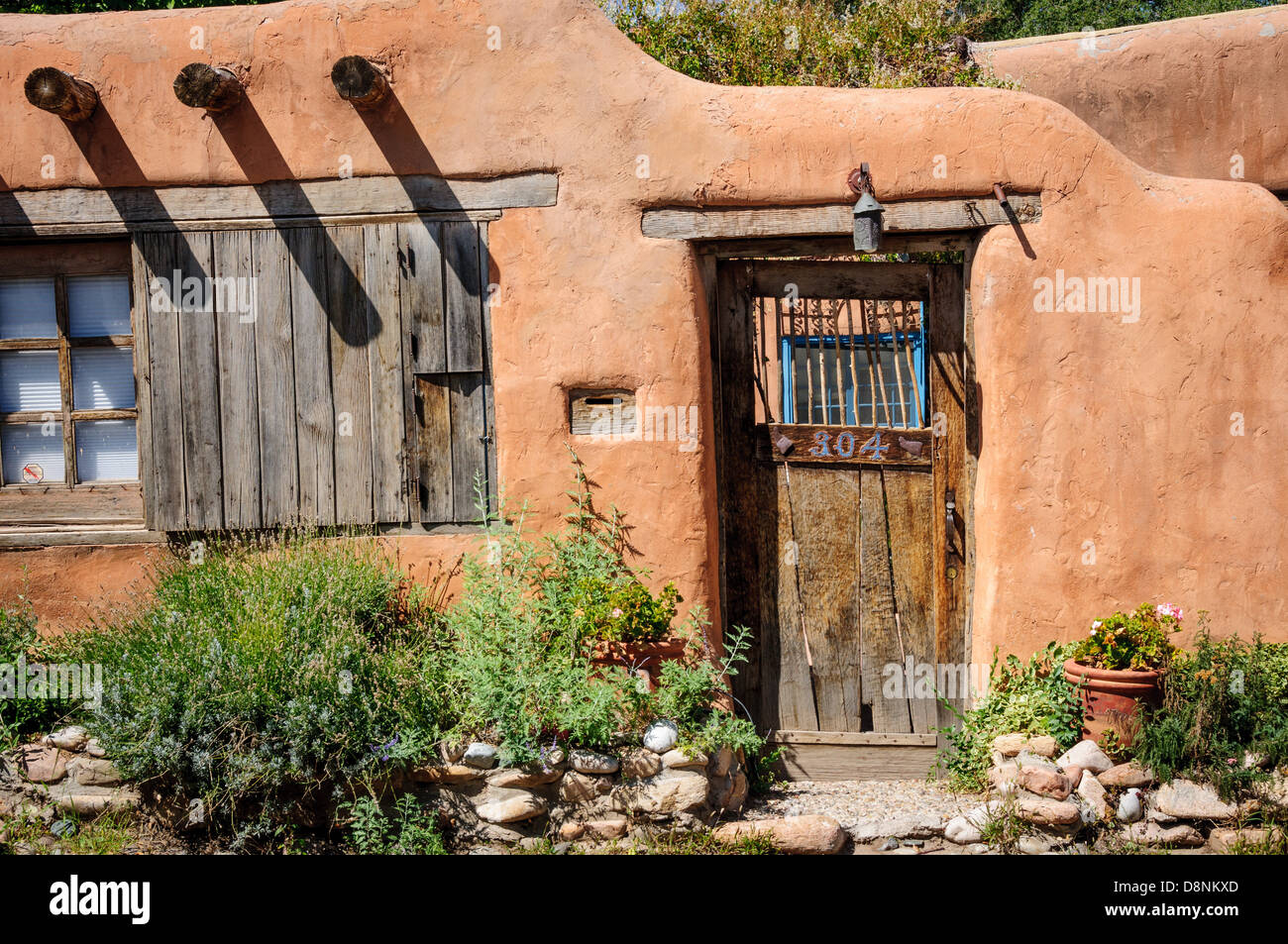 Santa Fe Style Architecture Detail Canyon Road New Mexico