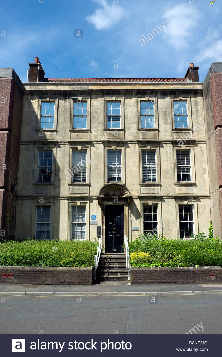 The birthplace of Thomas Lawrence (b1769 - d1830), in Redcross Street, Bristol, UK. - Stock Image