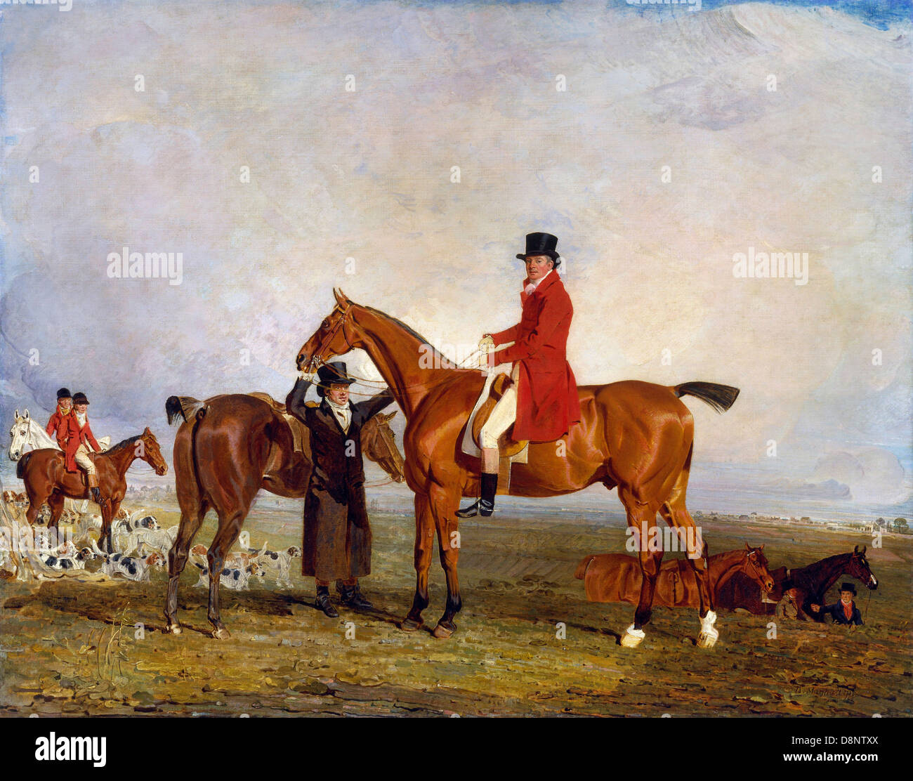 Benjamin Marshall, George, Marquess of Huntly (later 5th Duke of Gordon), on Tiny 1806-1807 Oil on canvas. - Stock Image