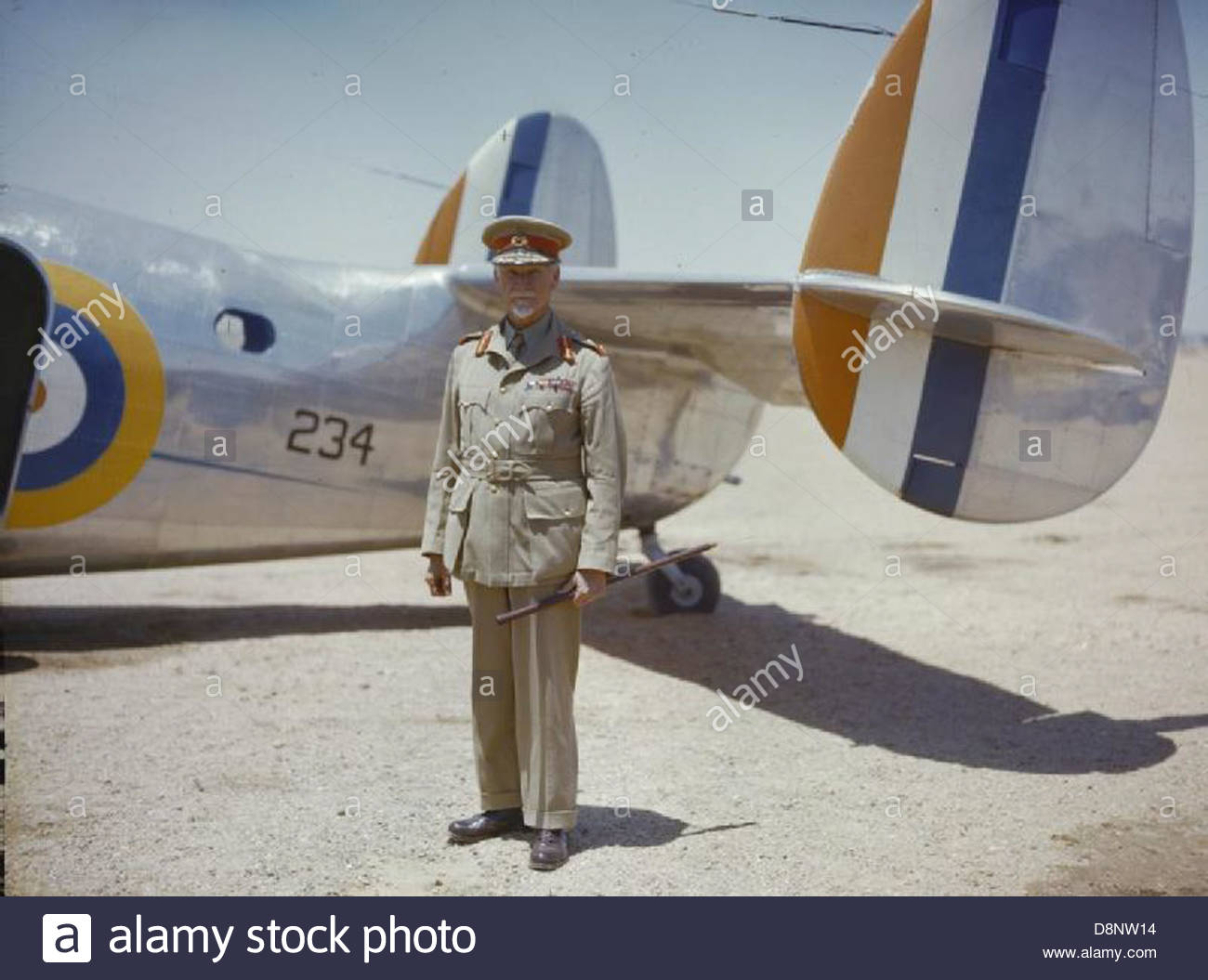 Field Marshal Jan Smuts, Premier of South Africa and Supreme Commander of the Union Defences TR30. - Stock Image
