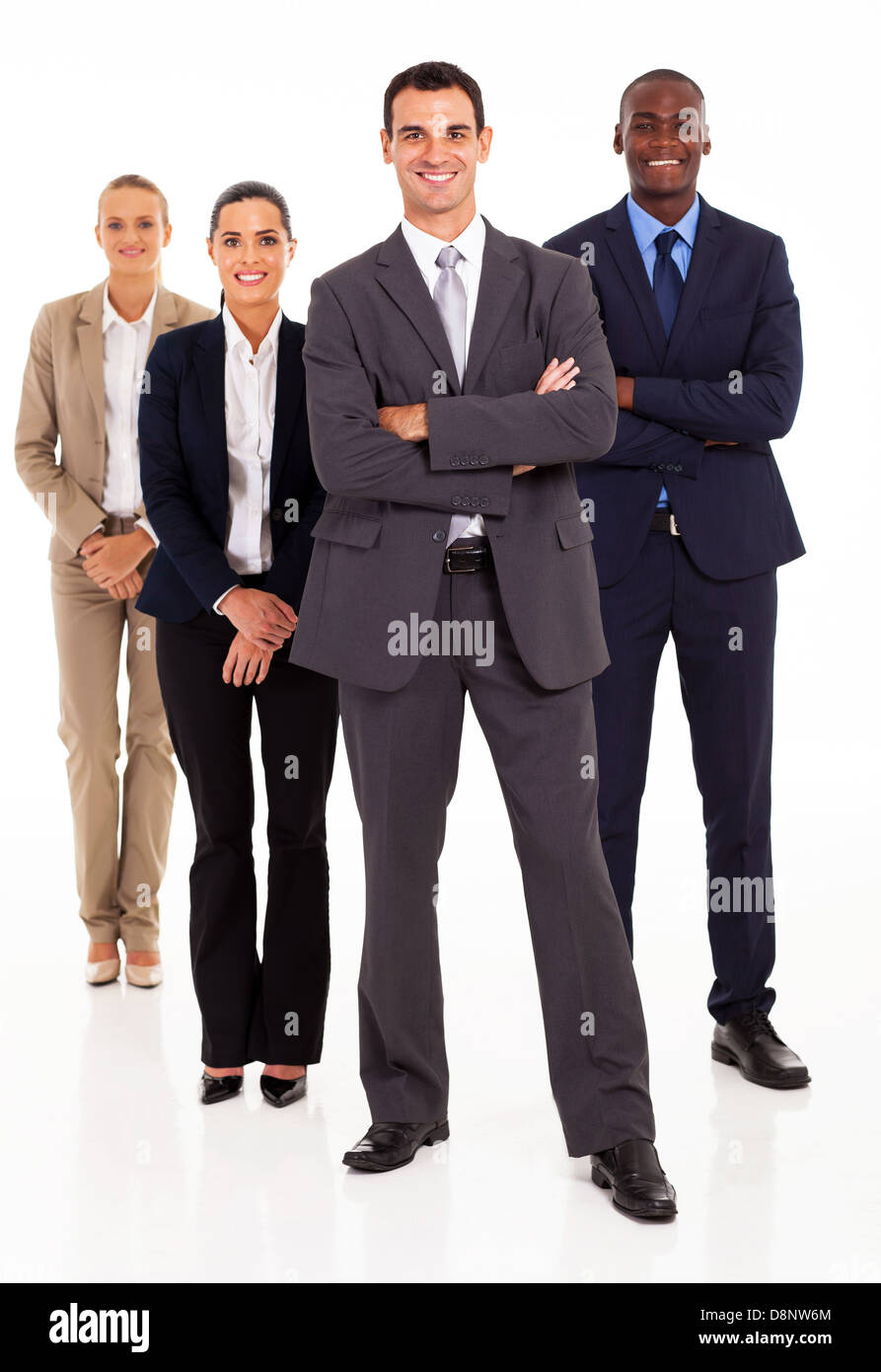 group of business people full length on white - Stock Image